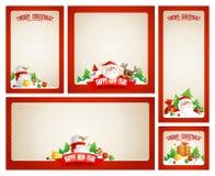 Kerstmiskaders met Kerstman worden geplaatst die vector illustratie