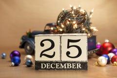 Kerstmiskalender Stock Afbeelding