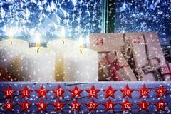 Kerstmiskalender, Advent Calendar Stock Fotografie