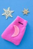 Kerstmiskalender en sterren Stock Fotografie
