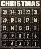 Kerstmiskalender op bord Royalty-vrije Stock Fotografie