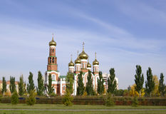 Kerstmiskathedraal, Omsk, Rusland Stock Foto