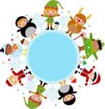 Kerstmiskinderen Royalty-vrije Stock Foto's