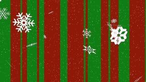 Kerstmiskleuren en Sneeuwlijnen stock footage