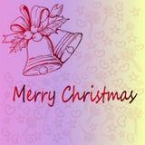 Kerstmisklok en een mooi thematisch Kerstmispatroon Idee voor Kerstmisgift het verpakken Stock Afbeelding
