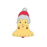 Kerstmisklok met GLB Royalty-vrije Stock Foto