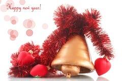 Kerstmisklok met Kerstmisornamenten Stock Foto's