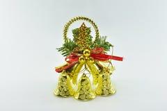 Kerstmisklok op witte achtergrond Royalty-vrije Stock Foto