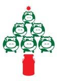 Kerstmiskoe Stock Fotografie