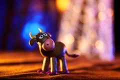 Kerstmiskoe van plasticine Stock Fotografie