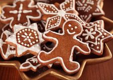 Kerstmiskoekjes Stock Fotografie