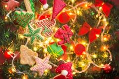 Kerstmiskoekjes Stock Foto's