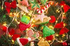 Kerstmiskoekjes Royalty-vrije Stock Afbeeldingen