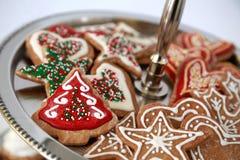 Kerstmiskoekjes Stock Foto
