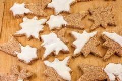 Kerstmiskoekjes (Kaneel) Royalty-vrije Stock Foto