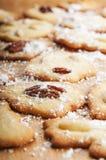 Kerstmiskoekjes met noten en amandelen. Royalty-vrije Stock Fotografie