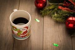Kerstmiskoffie stock fotografie