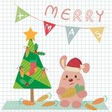 Kerstmiskonijntje vector illustratie