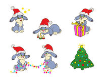 Kerstmiskonijntjes Stock Fotografie