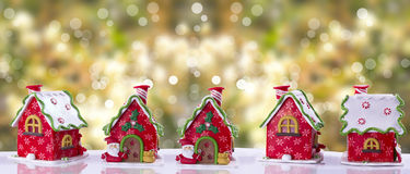 Kerstmiskous met multicolored glans wordt verfraaid die Royalty-vrije Stock Foto