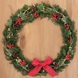 Kerstmiskroon stock foto's