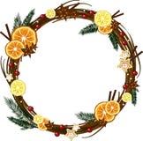 Kerstmiskroon Royalty-vrije Stock Afbeeldingen
