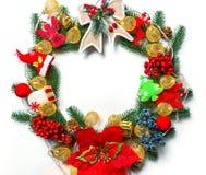 Kerstmiskroon met decoratie, Stock Fotografie