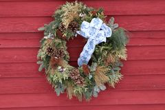 Kerstmiskroon 1 New Hampshire-stijl Stock Foto's