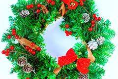 Kerstmiskroon op een zwarte achtergrond Stock Afbeelding