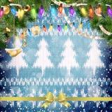 Kerstmiskroon op rood Eps 10 Stock Afbeelding