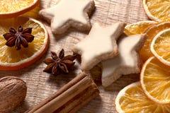 Kerstmiskruiden, noten en cookies03 Royalty-vrije Stock Foto