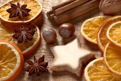 Kerstmiskruiden, noten en cookies04 Royalty-vrije Stock Foto