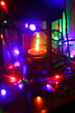 Kerstmislamp Stock Foto's
