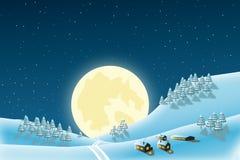Kerstmislandschap van de winter Stock Foto