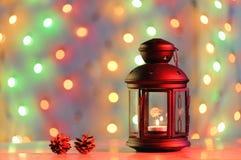 Kerstmislantaarn Stock Fotografie
