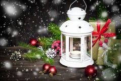 Kerstmislantaarn Royalty-vrije Stock Afbeeldingen