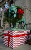 Kerstmisleeuw stock fotografie