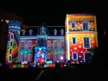 Kerstmislicht in Biarritz stock foto's