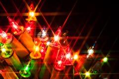 Kerstmislichten Royalty-vrije Stock Foto