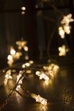 Kerstmislichten Stock Afbeelding