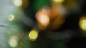 Kerstmislichten binnen uit Nadruk stock video