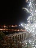 Kerstmislichten in Florence Royalty-vrije Stock Fotografie