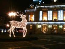 Kerstmislichten in Frankrijk Stock Foto