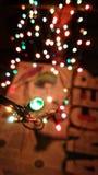 Kerstmislichten het schilderen Royalty-vrije Stock Afbeeldingen