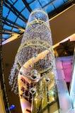 Kerstmislichten in Palladium royalty-vrije stock foto