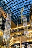 Kerstmislichten in Palladium royalty-vrije stock afbeeldingen