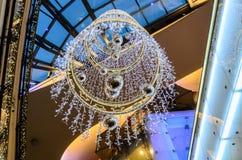 Kerstmislichten in Palladium royalty-vrije stock foto's