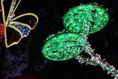 Kerstmislichten in Salerno Stock Afbeeldingen