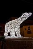 Kerstmislichten in Salerno Stock Foto's