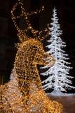 Kerstmislichten in Salerno Stock Afbeelding